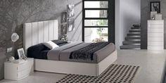 Blanco y gris, una excelente combinación para el #dormitorio. Te mostramos algunos ejemplos en el #blog #decoración