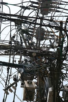 549_3 Electrical Projects, Electrical Wiring, Pole Art, Tokyo, Industrial Photography, World's Biggest, The Real World, Textures Patterns, Street Photography