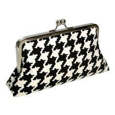 Black & White houndstooth clutch