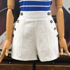Shorts Pin Up Outfits, Casual Outfits, Cute Outfits, High Waisted Shorts, Casual Shorts, Short Suit, Chor, Young Fashion, Baby Girl Dresses