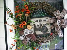 Farm House Wreath by WreathsEtc on Etsy