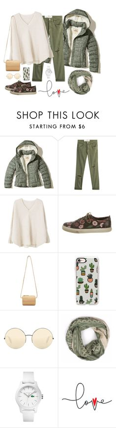 """Puffer Jackets"" by nadyahts ❤ liked on Polyvore featuring Hollister Co., Current/Elliott, MANGO, Gucci, Building Block, Casetify, Victoria Beckham, Bohemia and Lacoste"