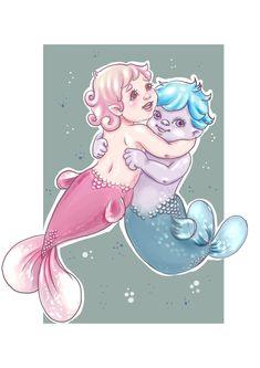 #hugs #sweetheart #may10#mermay #mermaid #willborg #Mermay2018