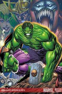 #Hulk #Fan #Art. (ONSLAUGHT REBORN (2006) #5 Cover) By: Rob Liefeld.