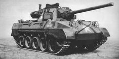"""The 76 mm Gun Motor Carriage (GMC) M18 was an American tank destroyer of World War II. The manufacturer, Buick, gave it the nickname """"Hellcat"""" and it was the fastest tracked armored fighting vehicle during the war with a top speed up to 60 mph. Hellcat crews took advantage of the vehicle's speed to protect against hits to its thin armor. Many German Panther and Tiger tanks were destroyed because they could not turn their turrets fast enough to return fire."""