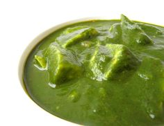 Spinach and Cottage Cheese (Palak Paneer)