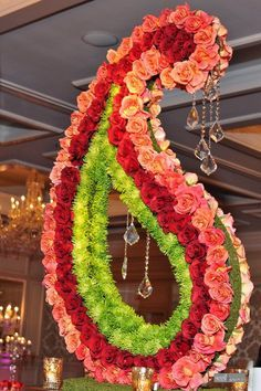 Another grand #floral structure perfect for so many events, but the perfect #centerpiece for this #Indian Wedding.
