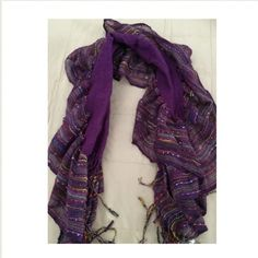 SALE Purple boutique scarf  Brand new. Beautiful fringe detail. Never worn. Great for spring and fall! Boutique Accessories Scarves & Wraps
