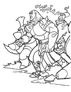 The Magic Sword: Quest for Camelot Coloring pages for kids. Printable. Online Coloring. 19
