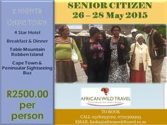 Senior Citizen Package - 2 Nights Cape Town