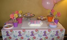 1st Birthday Butterflies and Flowers theme.