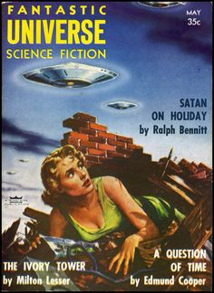 Fantastic Universe - May 1956 - cover by Ed Emshwiller