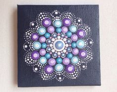 10 x 10 cm dotart painting on quality canvas :)  The painting will be sent to you with Priority Air Mail and maximal protected! I sell only my original paintings ;)
