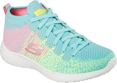 Womens Skechers Burst Sweet Symphony High Top - Turquoise/Multi - FREE Shipping & Exchanges | Shoebuy.com