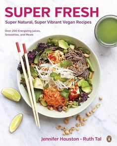 Super Fresh: Super Natural, Super Vibrant Vegan Recipes by Jennifer Houston http://www.amazon.com/dp/0143190857/ref=cm_sw_r_pi_dp_nVjbwb01AV4SV