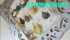DIY earring holder- so cute, great Christmas gift idea for girlfriends