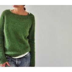 Sweater Knitting Patterns, Loom Knitting, Knitting Stitches, Knit Patterns, Knitting Ideas, Knitting Needles, Raglan Pullover, How To Purl Knit, Green Pattern