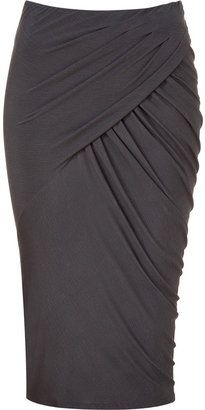 Donna Karan Shadow twisted drape skirt