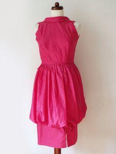 Vintage Pink Party Dress  1980's Dress von PaperdollVintageShop, €29,90
