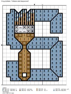 alfabeto della falegnameria S
