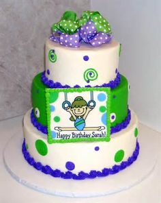 Image detail for -gymnastics birthday cake for girls