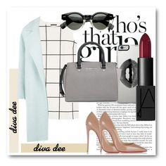 """Diva Dee"" by dianagrigoryan ❤ liked on Polyvore featuring MANGO, MaxMara, Christian Louboutin, Lipsy, MICHAEL Michael Kors and NARS Cosmetics"
