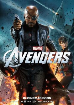 Movie poster The Avengers. Nick Fury.