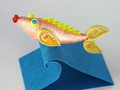 Fish. 3D quilling by Inna's Creations, via Flickr