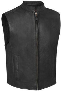 True Element Mens Zip Front, Single Back Panel, Scooter Collar Leather Motorcycle Vest (Black, Size S-5XL) http://suliaszone.com/true-element-mens-zip-front-single-back-panel-scooter-collar-leather-motorcycle-vest-black-size-s-5xl/