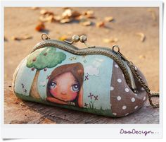 Cosmetic bag Make up pouch Handbag Bridesmaid clutch by DooDesign