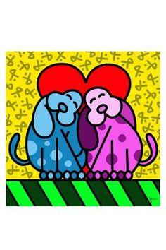 Super Exclusivo - Centro das Artes LeCarou - Poster Dogs In Love - 30x30 cm
