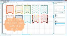 Tutorial on how to do full page flags, half boxes for the Erin Condren Life Planner in Silhouette Studio. Also, how to use the cut/offset settings in Silhoue...