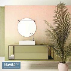 De la serie #Square de @Duritia, os traemos hoy este fantástico conjunto de mueble con lavabo sobre encimera y espejo redondo. Nos encanta el contraste de los tonos rosados con el verde. Déjanos tu opinión, quieres ver más colores?   #mueblesdebaño #espejoredondo #lavabosobreencimera #verde #color #interiorismo #diseño #mueble #baño #reforma #actualidad #Valencia