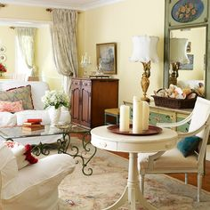 french country modern living room | 2013 Country Living Room Decorating Ideas from BHG | Modern Furniture ...