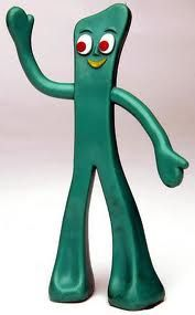 he was once a litle green ball of clay...Gumby! I still remember the theme song.