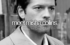 meeting Castiel? I could handle that. Can Sam and Dean be there too? ;)