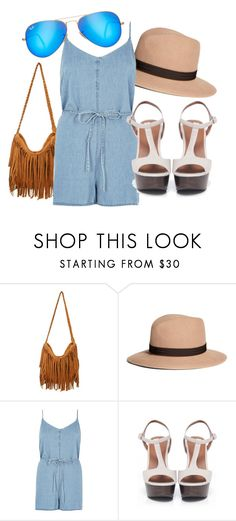 """Romping Around"" by angelaedmund ❤ liked on Polyvore featuring Brooks Brothers, River Island, Bruno Premi and Ray-Ban"
