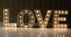 Marquee Lighted Letter (includes your choice of one letter)