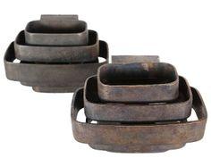 Jules Wabbes, Bronze Sconces for Géneral Décoration, 1968.