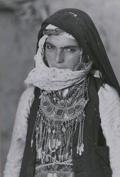 A Kurdish woman in Khorasan, Iran in the 1960s.