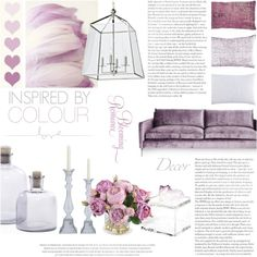 Made for Mauve by rachaelselina on Polyvore featuring interior, interiors, interior design, home, home decor, interior decorating, John Robshaw, French Connection, New Growth Designs and Mapleton Drive