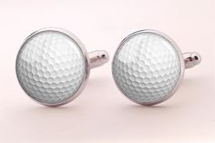 Golf Ball Cufflinks,Groom White Cufflinks, Groomsmen Wedding Cufflinks
