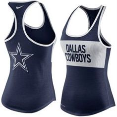Women's Dallas Cowboys Nike Navy Performance Tank Top