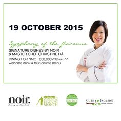 A rare opportunity to enjoy a dinner with surprise recipes from team Noir. and celebrity Master Chef US Christine Hà. An unexpected combination of Vietnamese & Asian cuisines, experience this culinary trip of the menu Symphony Of Flavours. Limited seats, join us now!  #noir #christineha #theblindcook #dininginthedark #noirexperience #diningfornmo #symphonyoftheflavours #masterchef #masterchefvietnam #visuallyimpaired #blind #hochiminhcity #saigon #vietnam