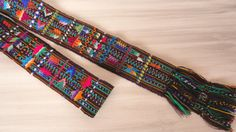 Mayan Style Belt Tribal Natural Woodland Earth by EducationAndMore, $46.00 Mayan Style Belt has a tribal look -- natural woodland earthy color tones.  A wonderful home decorator wall decoration. Or use it as an eclectic addition to your wardrobe and wear it like the Mayan Women wear similar belts -- wrapped around your waist a couple of times and keep the embroidered section still showing. The end is then tucked in under the belt and will keep the belt in place.