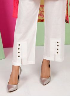 Kurti Sleeves Design, Kurti Neck Designs, Salwar Designs, Blouse Designs, Plazzo Pants, Salwar Pants, Trouser Pants, Palazzo Trousers, Fashion Pants