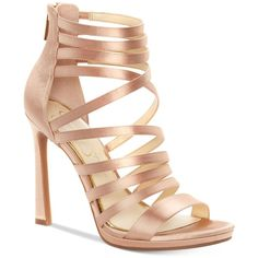 Jessica Simpson Palkaya Dress Sandals (719.300 IDR) ❤ liked on Polyvore featuring shoes, sandals, nude satin, strap shoes, strappy stilettos, strappy shoes, stiletto sandals and nude sandals