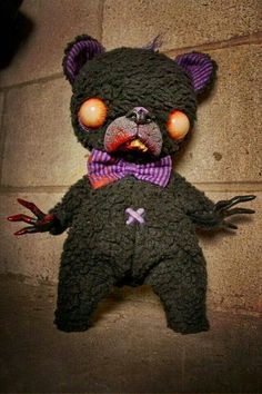 Zombie teddy bear. That's some creepy shiz right there.
