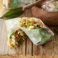 Spring Roll with Lime Aioli.  Better Homes & Gardens September 2012 recipes.