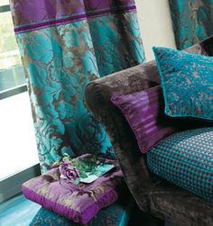 holistic home: purple-turquoise textile set